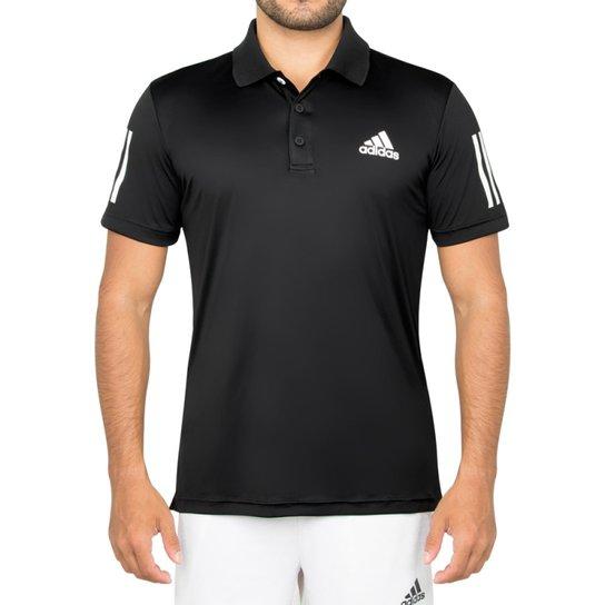 9f623a926 Camisa Pólo Adidas Club - Preto+Branco
