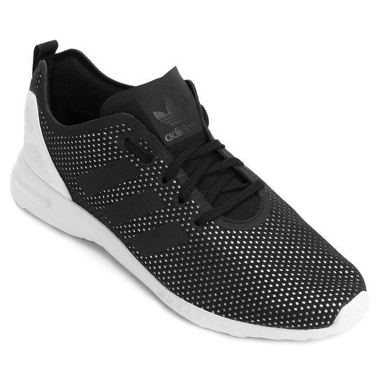 ca673d9b037 Tênis Adidas Zx Flux Adv Smooth Sp - Preto e Branco - Compre Agora ...