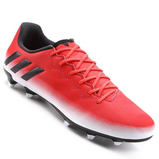 117c8a5006 Chuteira Campo Adidas Messi 16.3 FG Masculina - Vermelho e Branco ...