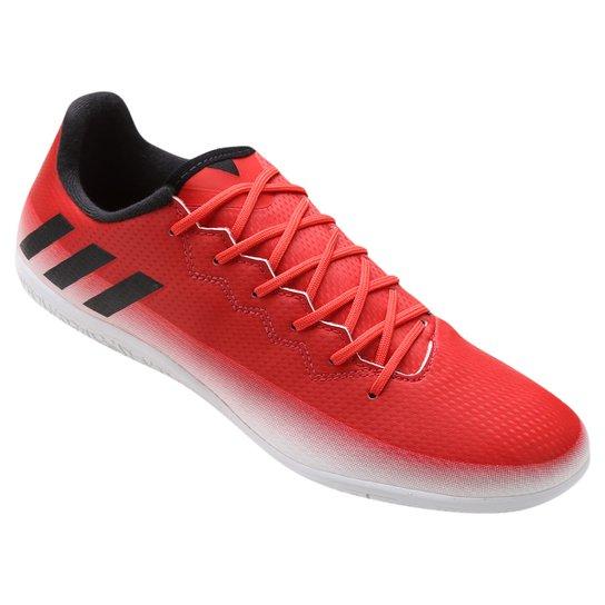 ffe133667e20e Chuteira Futsal Adidas Messi 16.3 IN - Vermelho e Branco | Netshoes
