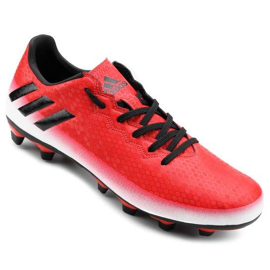 ad901ec552 Chuteira Campo Adidas Messi 16.4 FXG Masculina - Vermelho e Preto ...