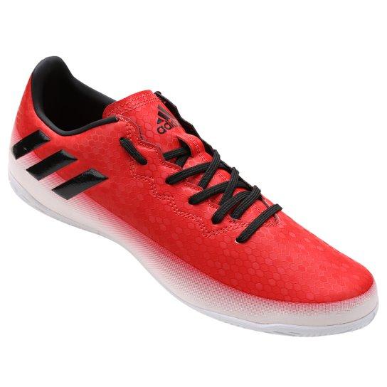 Chuteira Futsal Adidas Messi 16.4 IN Masculina - Vermelho e Branco ... baa955c6cf9b8