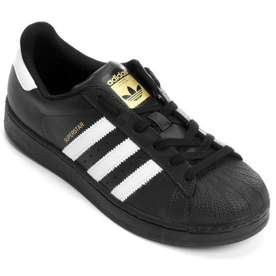 1fb5ed6b8 Tênis Adidas Superstar Foundation - Preto e Branco | Netshoes