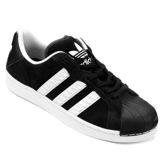 5921f29eb Tênis Couro Adidas Ultrastar Masculino - Preto+Branco