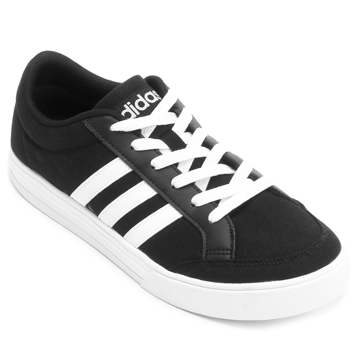d5a394615aa Tênis Adidas Vs Set Masculino - Preto e Branco em Promoção no Oferta Esperta