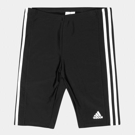 e6e19ef1f3197 Bermuda Adidas Infantil 3S - Preto e Branco - Compre Agora
