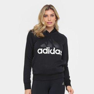 3e984bc576b Moletom Adidas Essentials Linear Over Head c  Capuz