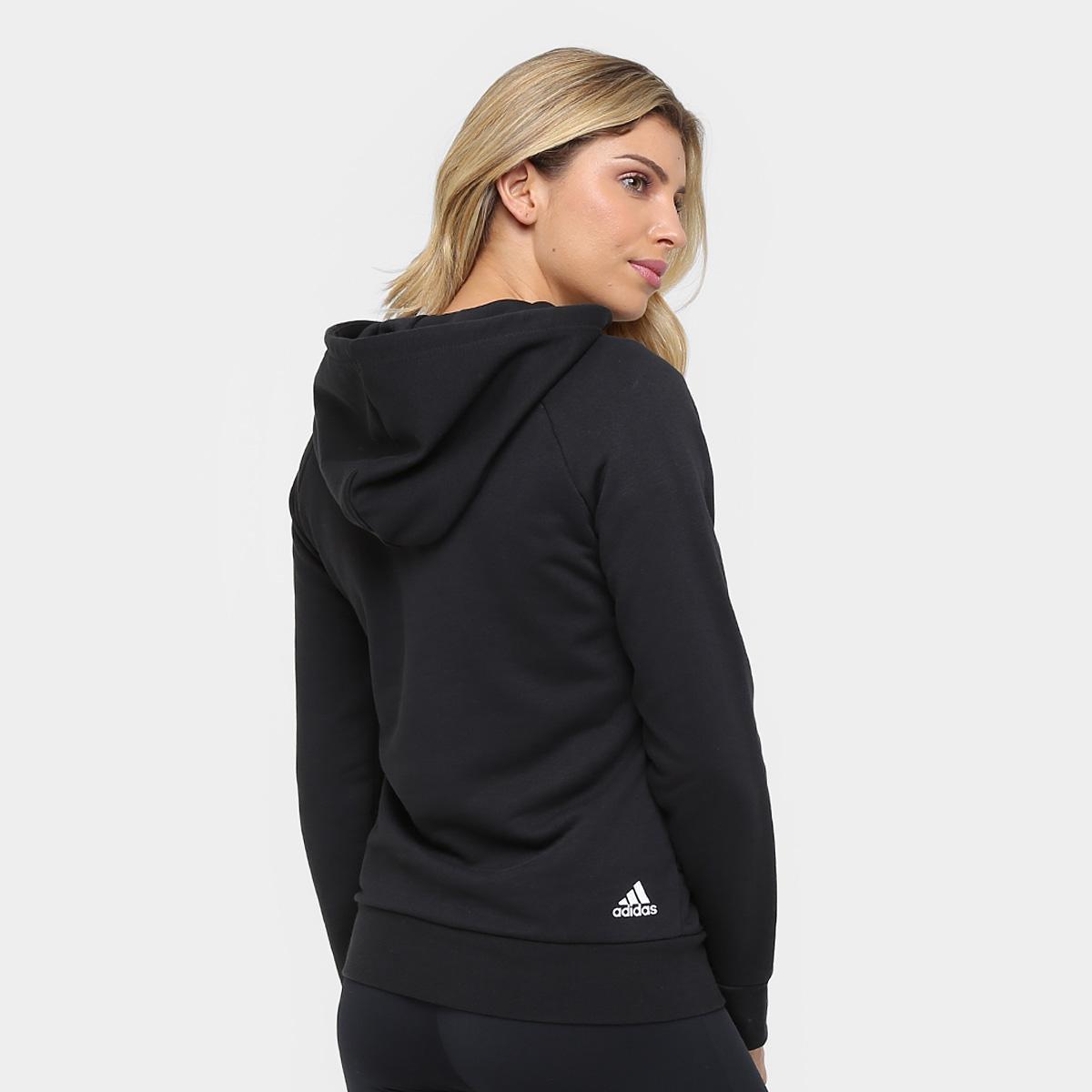 e92078d7e68 ... Foto 2 - Moletom Adidas Essentials Linear Over Head c  Capuz