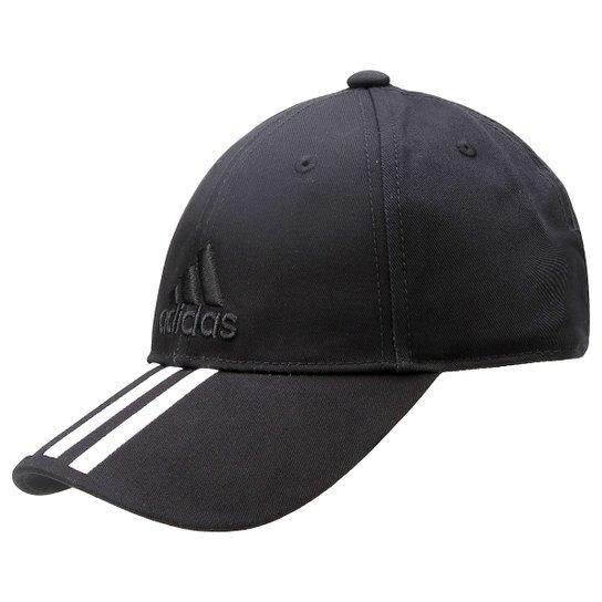 Boné Adidas Aba Curva Essential 3S Cotton - Compre Agora  1f5a26321f9