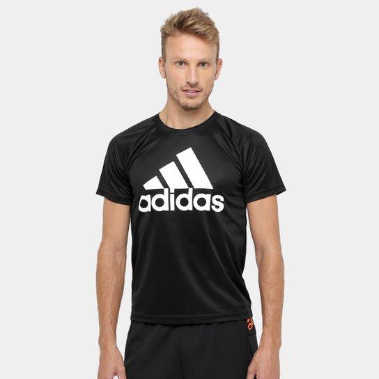 6f257d77c3 Camiseta Adidas M2M Logo Masculina - Preto e Branco - Compre Agora ...
