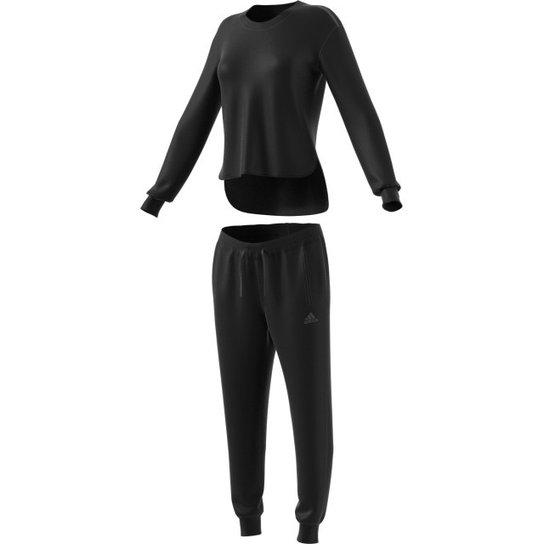 83fbc73d2 Agasalho Adidas Chill Out - Preto+Branco