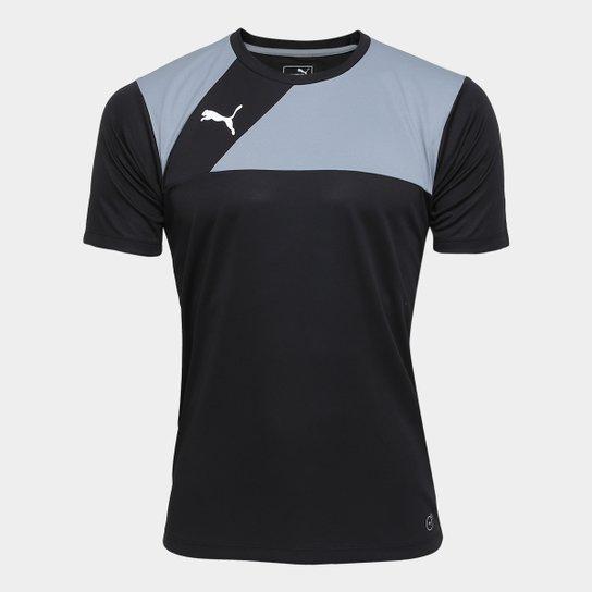 7a3e1246209ab Camisa Puma BR Entry Training Jersey Masculina - Preto e Cinza ...