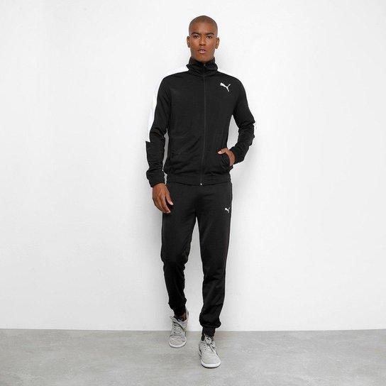 027086dc242fb9 Agasalho Puma Classic Tricot Suit Masculino - Preto e Branco | Netshoes