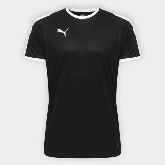 bbb34b1d3a6d1 Camisa Puma Liga Jersey Masculina - Preto e Branco - Compre Agora ...