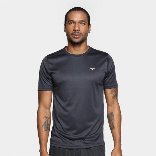 1bf7af9a45 Camiseta Mizuno Run Spark 2 Masculina - Preto e Branco - Compre ...