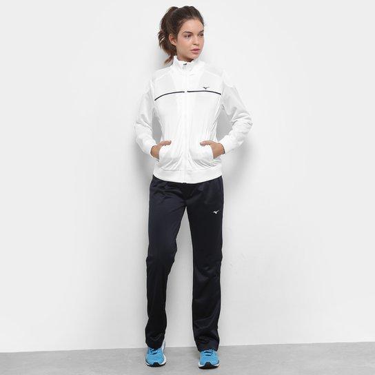 Agasalho Mizuno New Feminino - Preto e Branco - Compre Agora  11eb2888e04fb