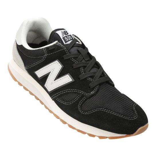 39385a8b71 Tênis Couro New Balance U 520 Masculino - Preto e Branco - Compre ...
