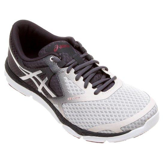 tênis asics comutora feminino cinza e branco compre agora netshoes ... e035153228579