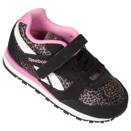 9516ee857f647 Tênis Reebok Jb Bagheera Runner Infantil - Preto+Rosa