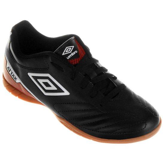 Chuteira Futsal Umbro Attak 2 - Preto e Branco - Compre Agora  20f7a4ead315f