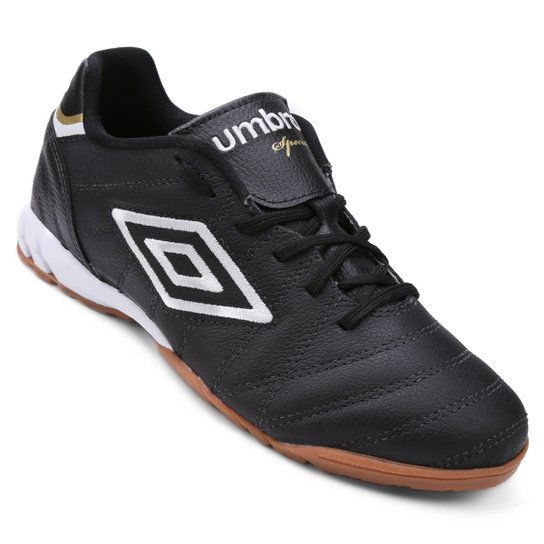 Chuteira Futsal Umbro Speciali Premier Masculina - Preto e Branco ... c49ea6d05f42a