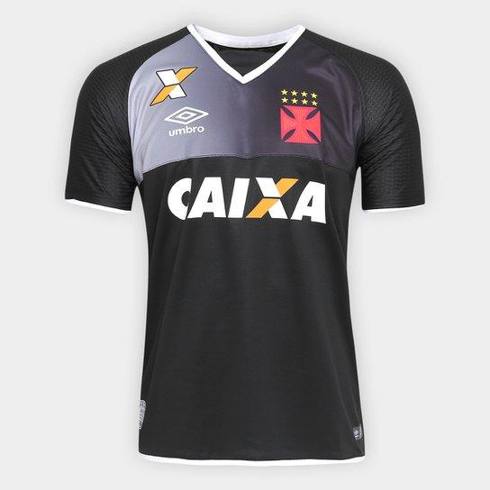 Camisa Vasco Goleiro 17 18 s nº Torcedor Umbro Masculina - Preto+Branco b94a85623793a