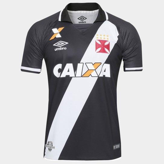 Camisa Vasco Oficial 1 17 18 3V160104 - Preto e Branco - Compre ... 3574f2c0877f1