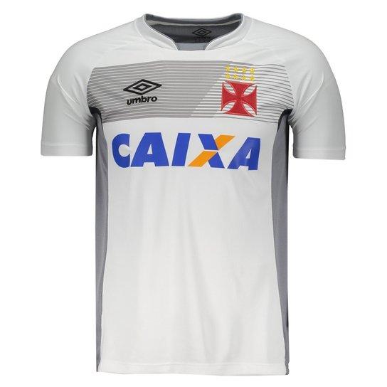 8511e3d51aee6 Camisa Umbro Vasco Treino 2017 com Patrocínio Masculina - Cinza+Branco