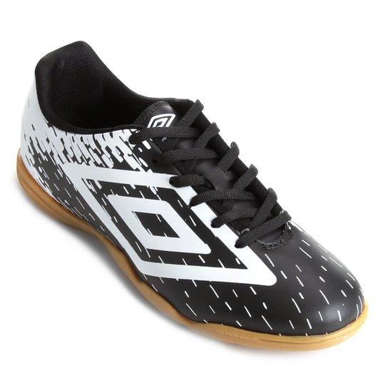 bc0914e2d Chuteira Futsal Umbro Acid - Preto e Branco