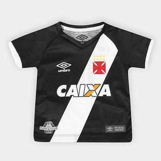 d9b7b4e937 Camisa Vasco I s n° 17 18 Torcedor Umbro Infantil