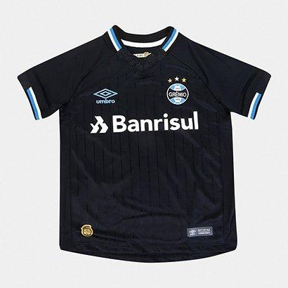 Camisa Grêmio III 2018 s/n° Torcedor Umbro Infantil