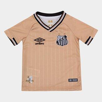 Camisa Santos Infantil III 2018 s n° - Torcedor Umbro d700f261f838d