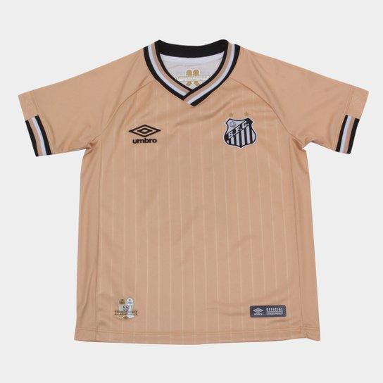 7ee21302b5 Camisa Santos Juvenil III 2018 n° 10 - Torcedor Umbro - Dourado e ...