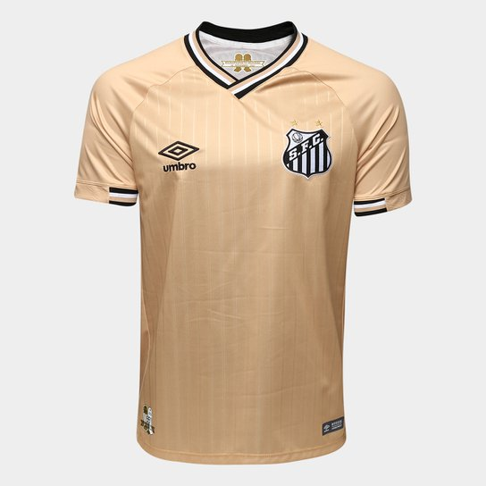 Camisa Santos III 2018 s n° - Torcedor Umbro Masculina - Dourado ... dd521432cbb9b