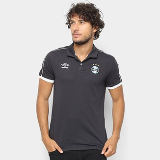 c91578f2e5431 Camisa Polo Grêmio 2019 Viagem Umbro Masculina