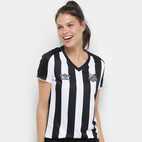 805532b18 Pré-Venda Camisa Santos II 2019 s nº Torcedor Umbro Feminina - Branco+