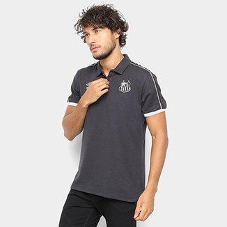 ba49ab4f12ad2 Camisa Polo Santos 2019 Viagem Umbro Masculina