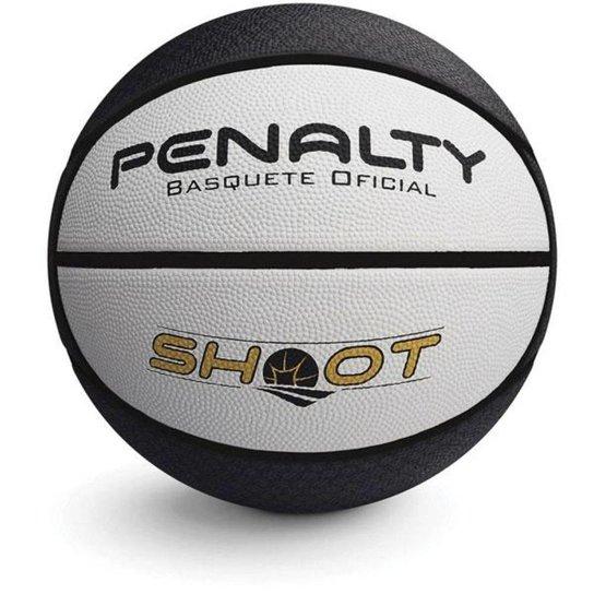 Bola Penalty Basquete Shoot Nacional 6 - Preto e Branco - Compre ... 286c604e9772f