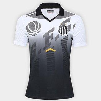 Camisa Polo Santos Kappa Comissão Técnica Viagem 17 18 Masculina af25cbad41a8c