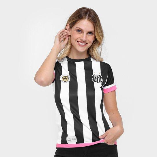 24d8f97d6a Camisa Santos II 17 18 s nº Réplica - Torcedor Kappa Feminina - Preto
