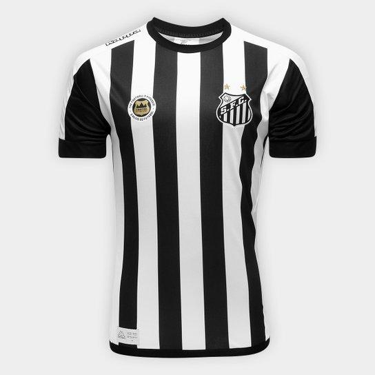 81edb1e822 Camisa Santos II 17 18 s nº Réplica Torcedor Kappa Masculina - Preto+
