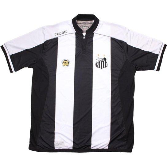 Camisa Kappa Santos Official 2016 - Preto e Branco - Compre Agora ... 5568bdbd9fce8