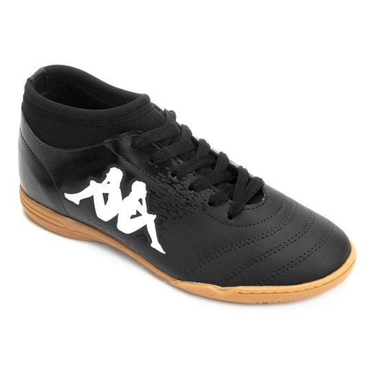Chuteira Futsal Kappa Agility - Preto e Branco - Compre Agora  8e7cb7a766446