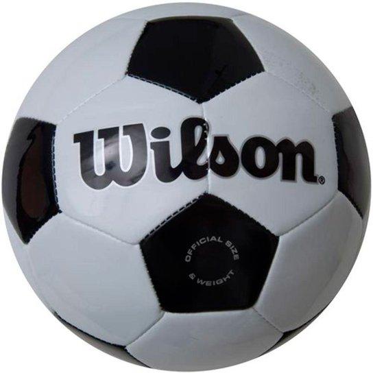c4c6efd42 Bola Futebol Traditional  3 Preto Branco - Wilson - Compre Agora ...