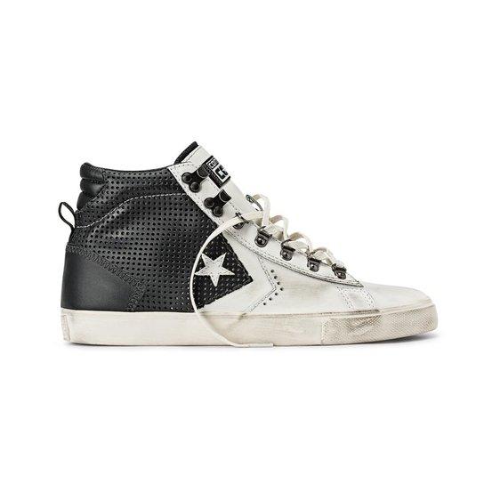02dcaa194843f5 Tênis Converse Cons Pro Leather Vulc Hi - Preto+Branco