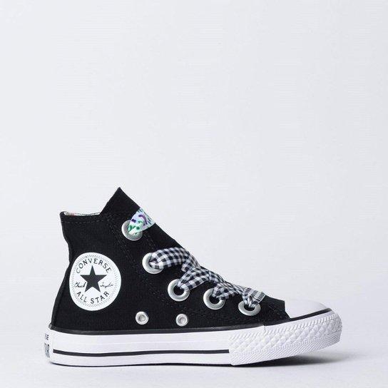 937b0d01116 Tênis Infantil Converse Chuck Taylor All Star Hi Feminino - Preto+Branco