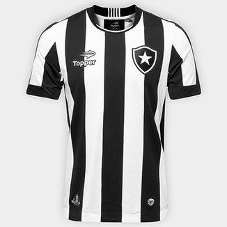 Camisa Botafogo I 2016 s nº Torcedor Topper Masculina 9ac1be6fe9163