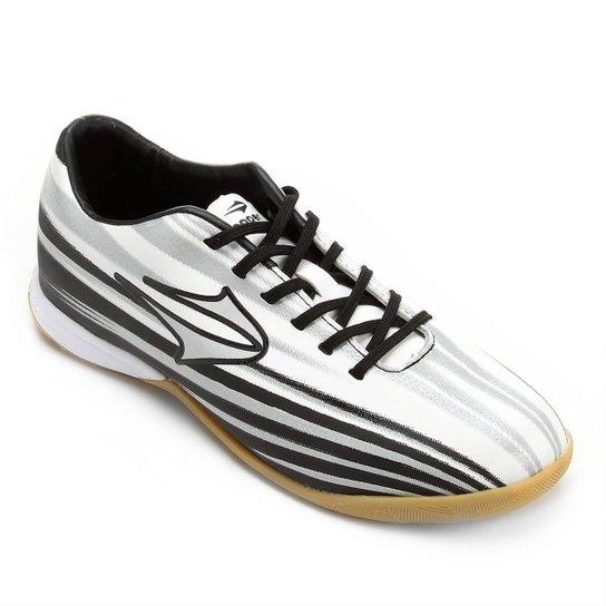 5bd3987c1d Chuteira Futsal Topper Vector 2 - Preto e Branco