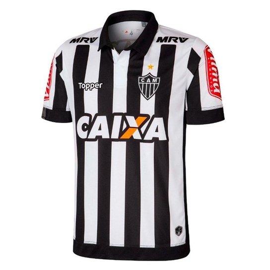 81311ccdf36e0 Camisa Atlético-MG Infantil I 17 18 s nº Torcedor Topper - Preto e ...