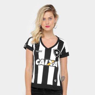69e738868a Camisa Botafogo I 17 18 s n° - Torcedor Topper Feminina